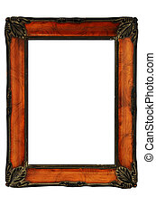 vintage decorated frame in the style of Art Nouveau, ...