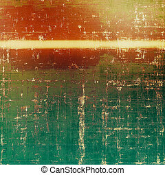 Vintage decorative background, antique grunge texture with different color patterns: yellow (beige); brown; green; red (orange)