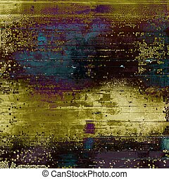 Vintage decorative background, antique grunge texture with different color patterns: yellow (beige); brown; green; blue; purple (violet); gray