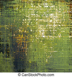 Vintage decorative background, antique grunge texture with different color patterns: yellow (beige); brown; gray; green; white