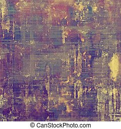Vintage decorative background, antique grunge texture with different color patterns: yellow (beige); brown; gray; blue; purple (violet); pink