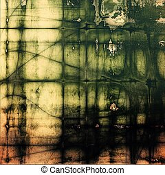 Vintage decorative background, antique grunge texture with different color patterns: yellow (beige); brown; green; black