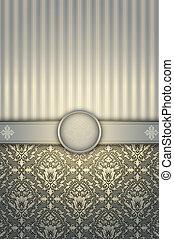 Vintage decorative background with elegant patterns.