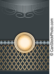 Vintage decorative background with frame for the text.