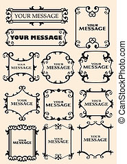 Vintage decorative design elements - Vector vintage...