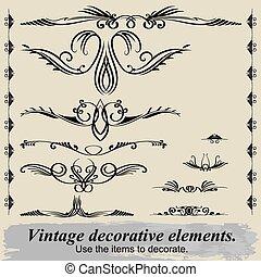 Vintage decorative elements 13