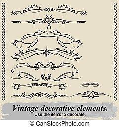 Vintage decorative elements 14