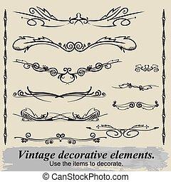 Vintage decorative elements 15