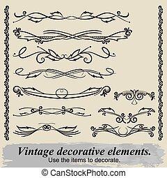 Vintage decorative elements 16