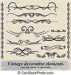 Vintage decorative elements 17