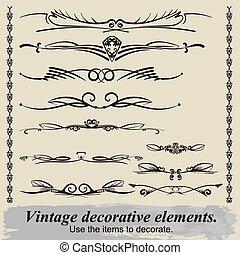 Vintage decorative elements 18