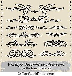 Vintage decorative elements 2.