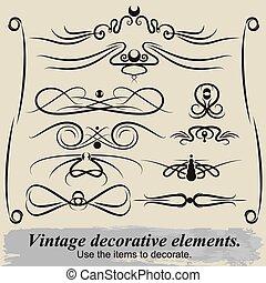 Vintage decorative elements 3.