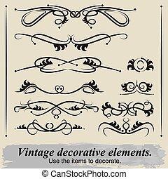 Vintage decorative elements 4.