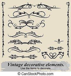 Vintage decorative elements 5.