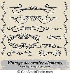 Vintage decorative elements 6.