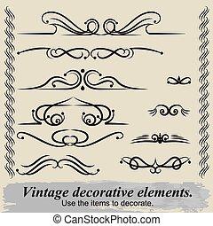 Vintage decorative elements 7.