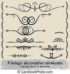 Vintage decorative elements 8.