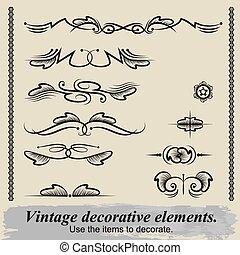 Vintage decorative elements 9.