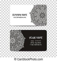 Vintage decorative elements. Business card vector.