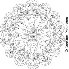 Vintage decorative elements, mandala pattern