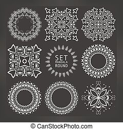 Vintage decorative elements. Vector illustration.