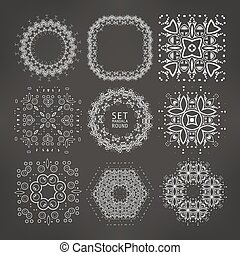 Vintage decorative elements. Vector