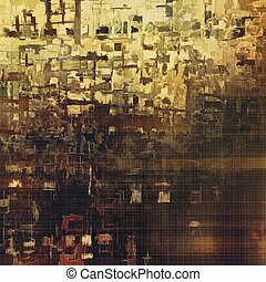 Vintage decorative texture with grunge design elements and different color patterns: yellow (beige); brown; gray; black