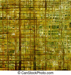 Vintage decorative texture with grunge design elements and different color patterns: yellow (beige); brown; gray; green