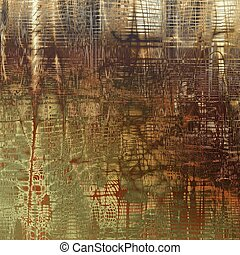 Vintage decorative texture with grunge design elements and different color patterns: yellow (beige); brown; gray; red (orange)