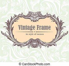 Vintage decorative vector frame
