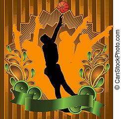 Vintage design basketball poster