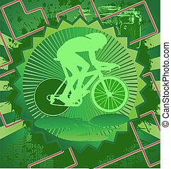 Vintage design cyclist poster