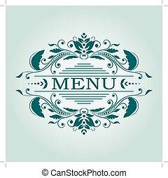 Vintage design elements. - Calligraphic floral vintage ...