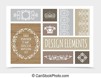 Vintage Design Elements Composition