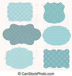 Vintage Design elements for scrapbook - Old tags and frames