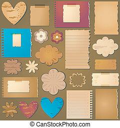 vintage style textured design elements for scrapbooking