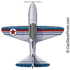 Vintage design of jet plane