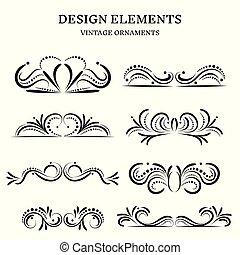 vintage design ornaments set