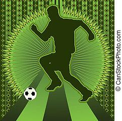 Vintage design soccer poster
