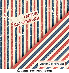Vintage design template with stripes.