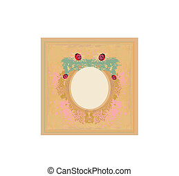 vintage design with ladybugs and flowers