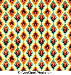 vintage diamond seamless pattern