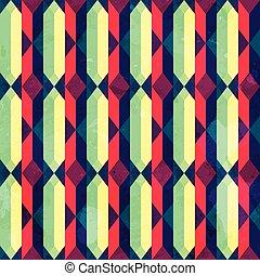 vintage diamond seamless pattern with grunge effect