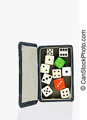 vintage dice box