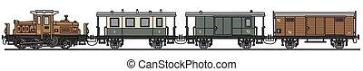 Vintage diesel train