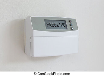 Vintage digital thermostat - Covert in dust - Freezing -...