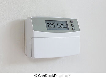 Vintage digital thermostat - Covert in dust - Too cold -...