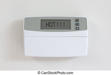 Vintage digital thermostat - Covert in dust - Hot - Vintage...