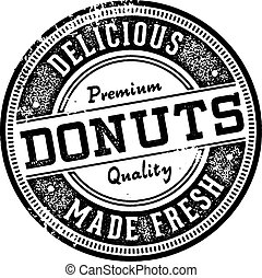 Vintage Donuts Menu Design Stamp